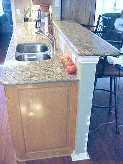 sink counter with island bar top
