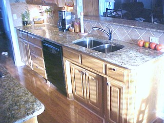 walker sink and dishwasher